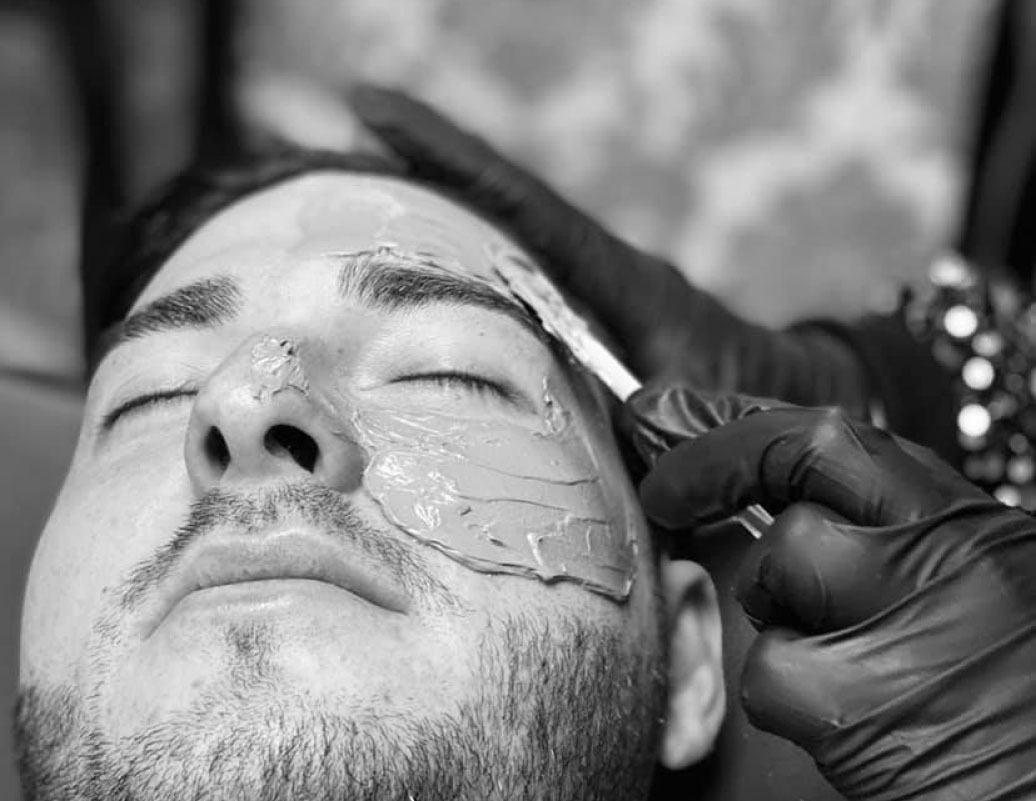 Man getting a Facial